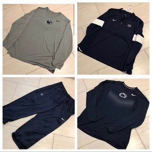 NIKE PSU quarter zip, sweat pants, and T-shirts